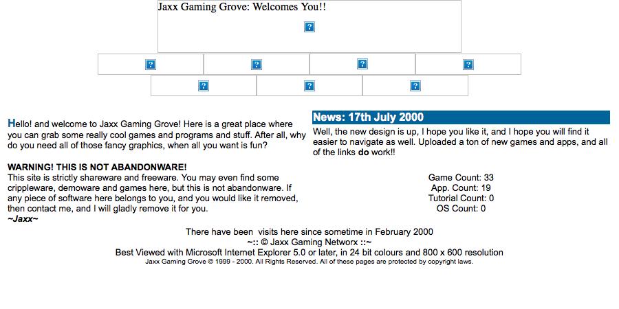 Jaxx Gaming Grove - 16/09/2000