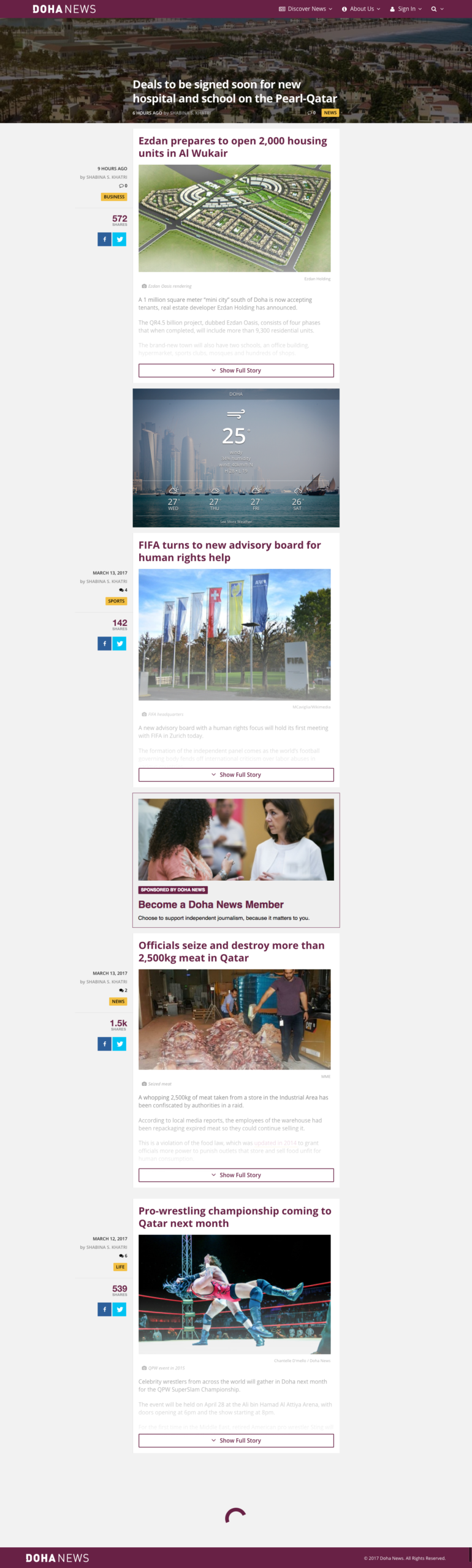Doha News - Homepage