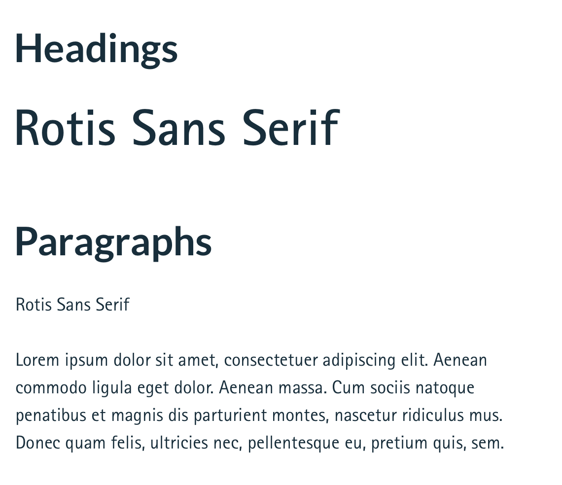 Fonts Used in this Case Study