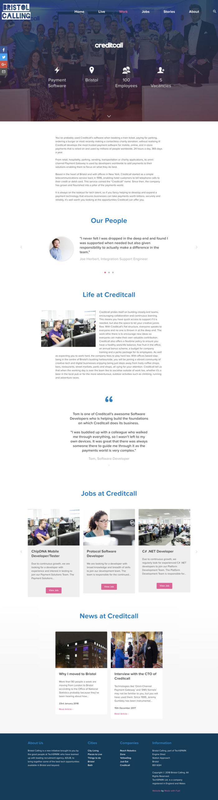Bristol Calling - Company Page