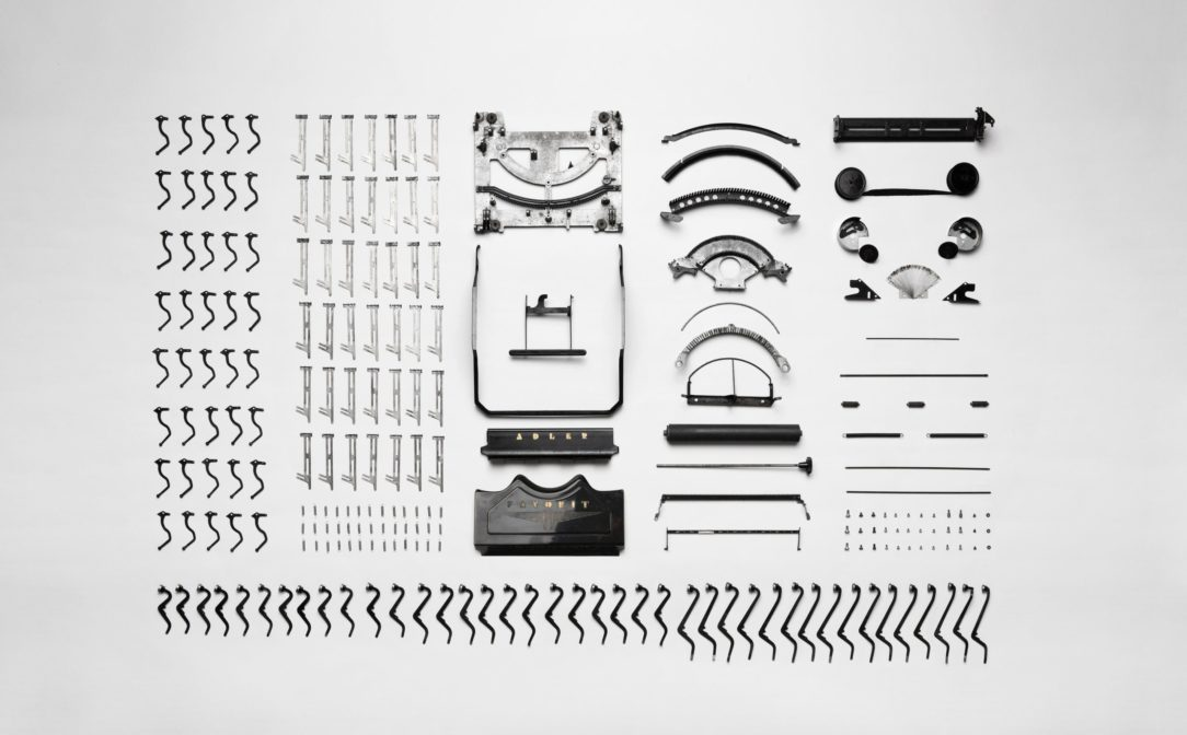 Photo of Disassembled Typewriter