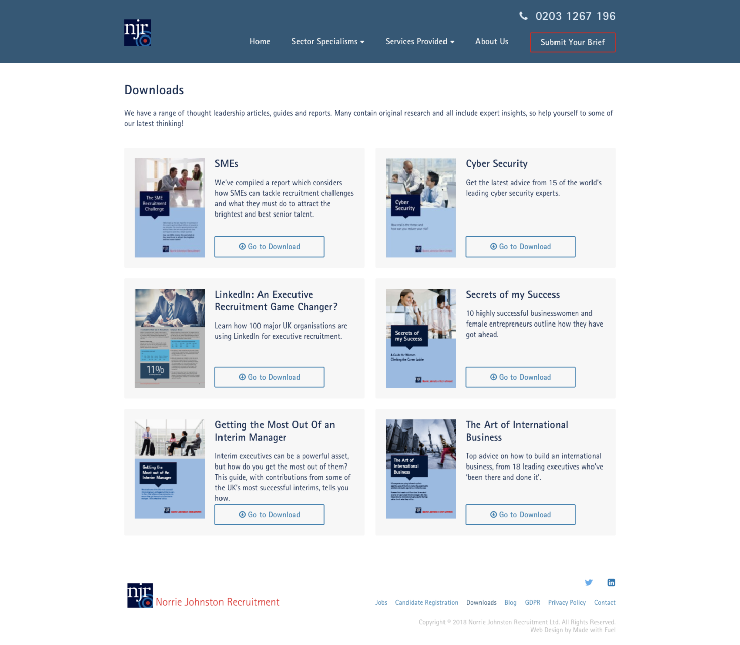 Norrie Johnston Recruitment - Downloadable Guides
