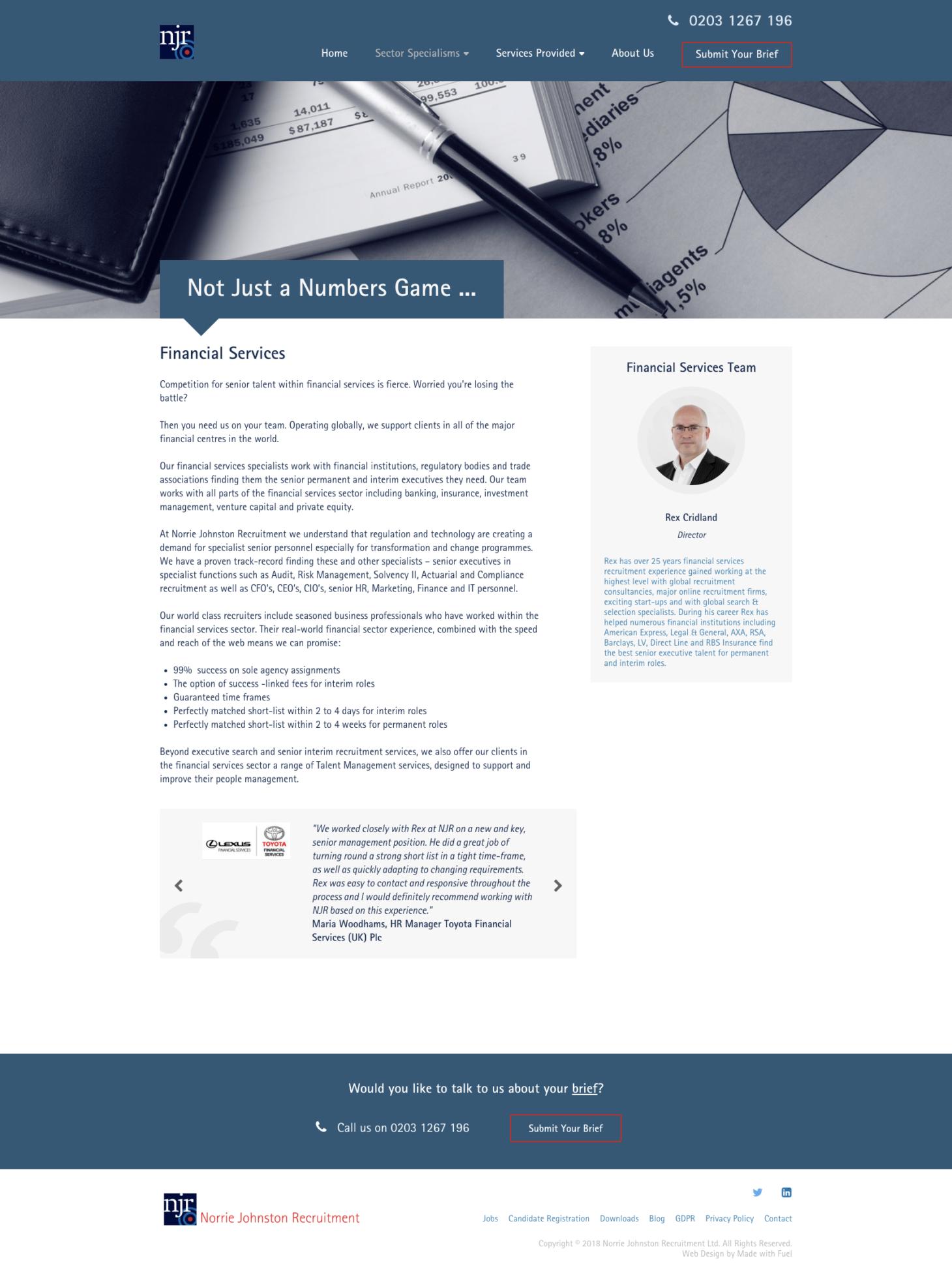 Norrie Johnston Recruitment - Services