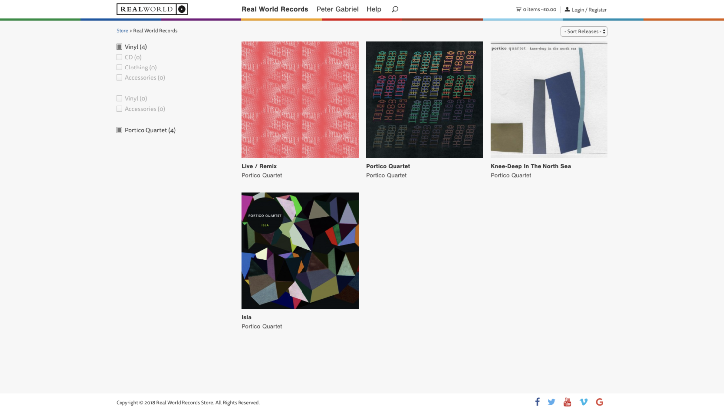 Real World Records Store - Filtering Products by Type and Artist